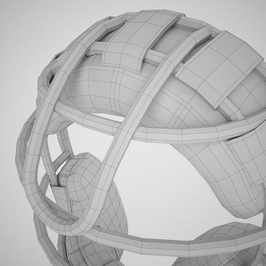 Catchers Face Mask 04 royalty-free 3d model - Preview no. 22