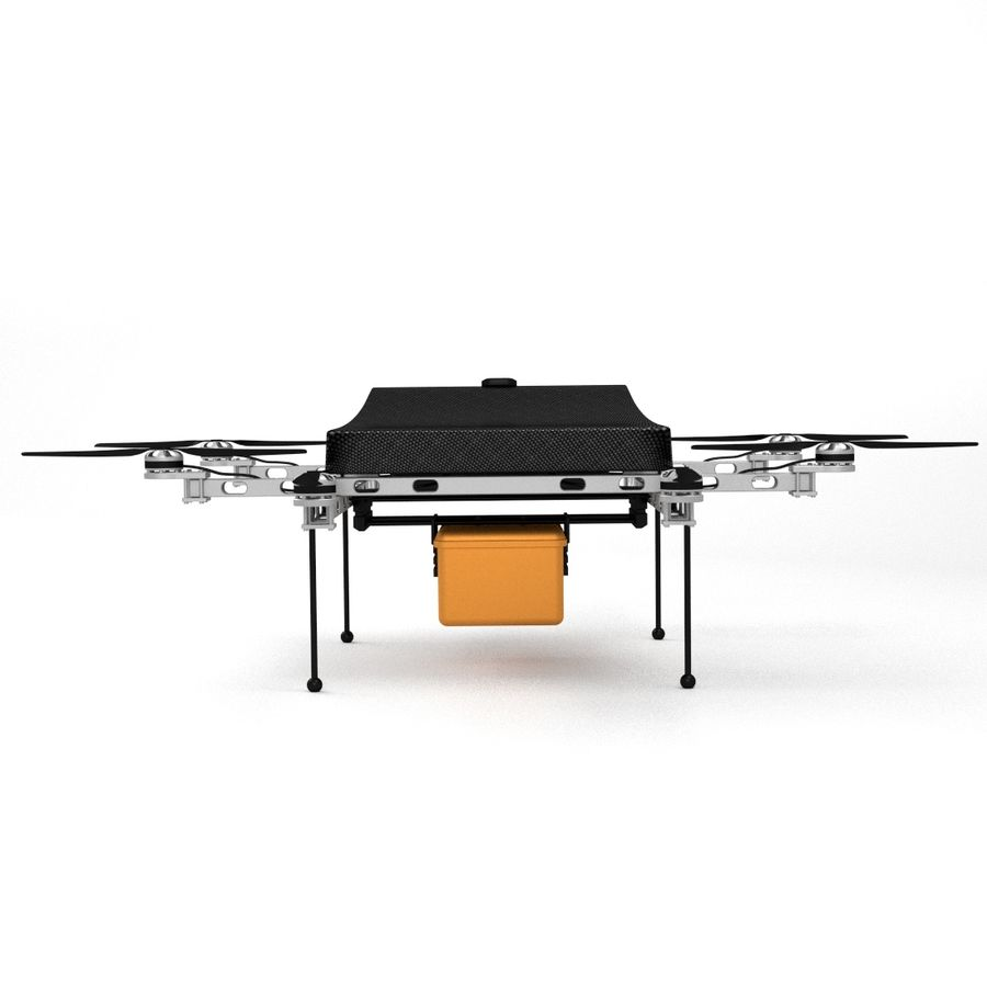 Delivery Drone royalty-free 3d model - Preview no. 5