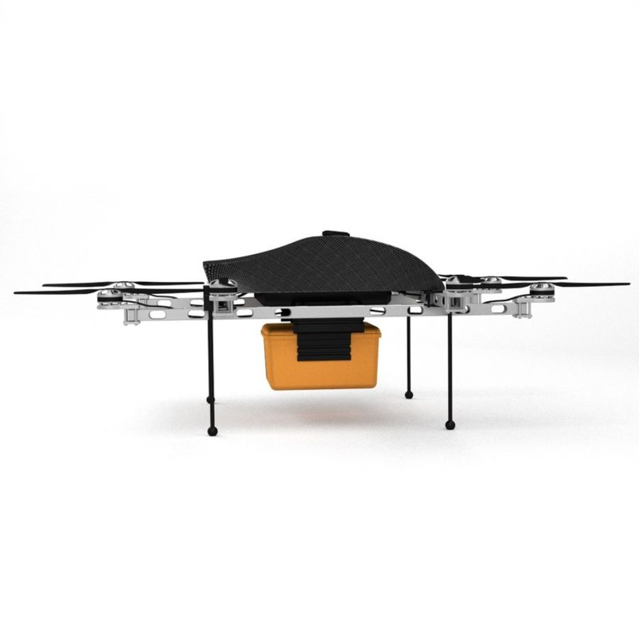 Delivery Drone royalty-free 3d model - Preview no. 6