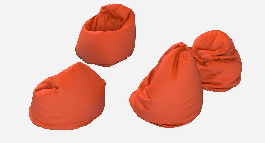 Bean Bag Chair Set royalty-free 3d model - Preview no. 5