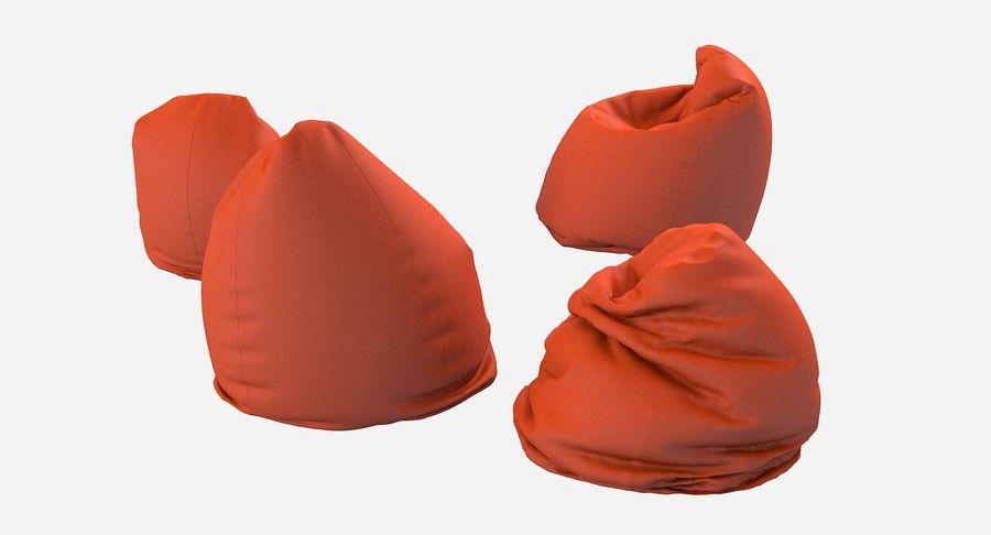 Bean Bag Chair Set royalty-free 3d model - Preview no. 4
