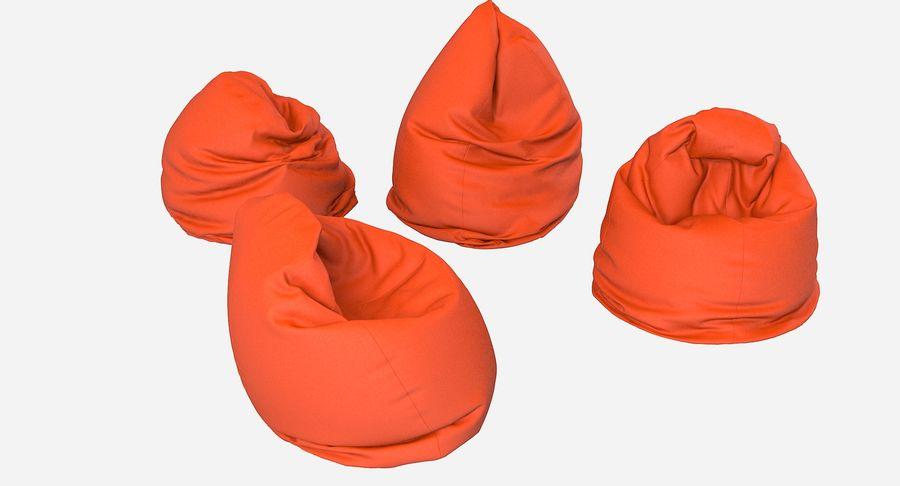Bean Bag Chair Set royalty-free 3d model - Preview no. 2