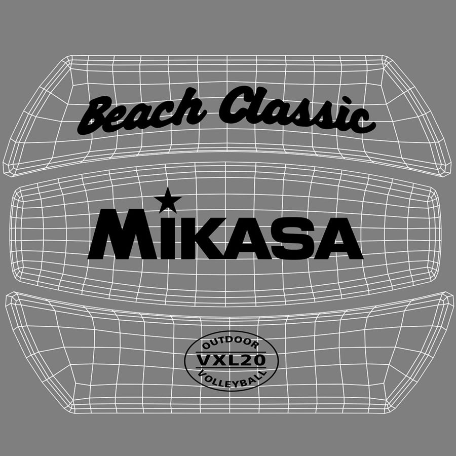 Mikasa Volleyball royalty-free 3d model - Preview no. 14