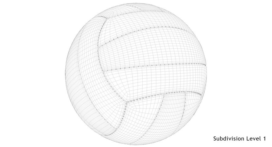 Mikasa Volleyball royalty-free 3d model - Preview no. 16