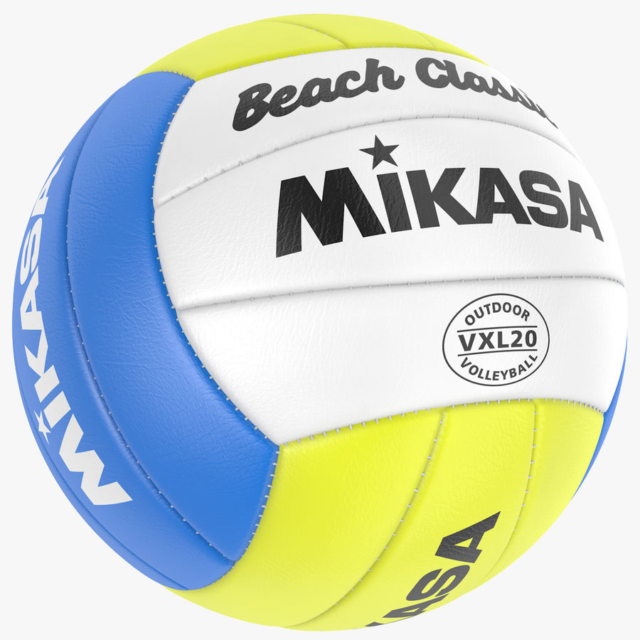 Mikasa Volleyball royalty-free 3d model - Preview no. 1