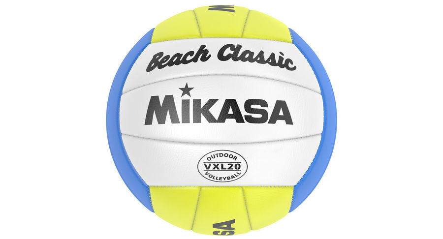 Mikasa Volleyball royalty-free 3d model - Preview no. 4