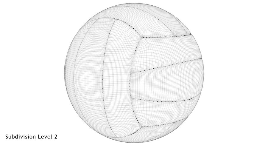 Mikasa Volleyball royalty-free 3d model - Preview no. 21
