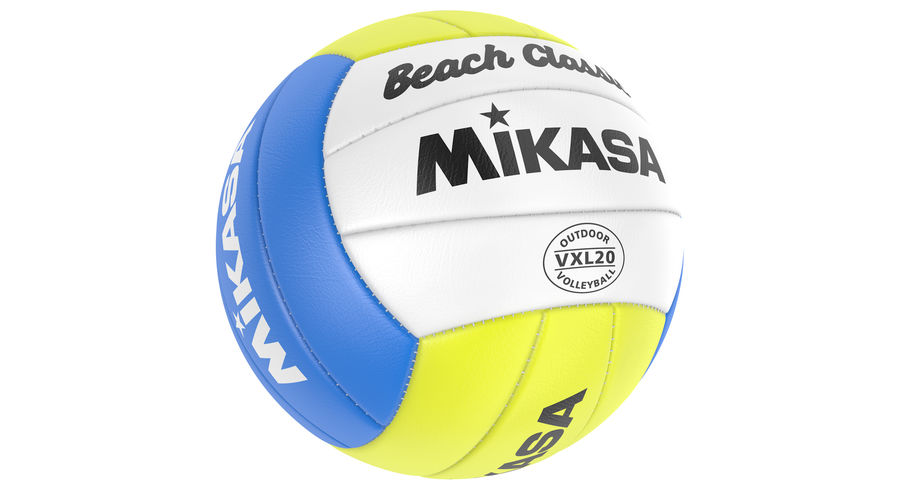 Mikasa Volleyball royalty-free 3d model - Preview no. 3