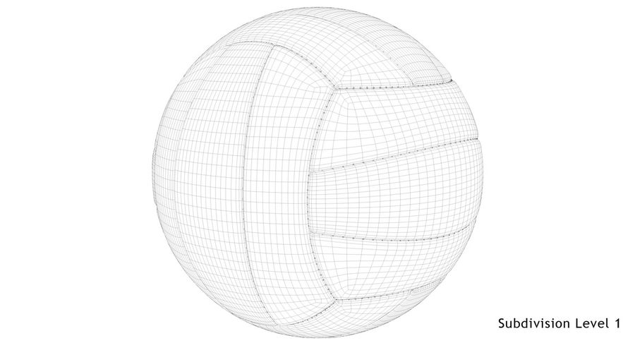 Mikasa Volleyball royalty-free 3d model - Preview no. 20
