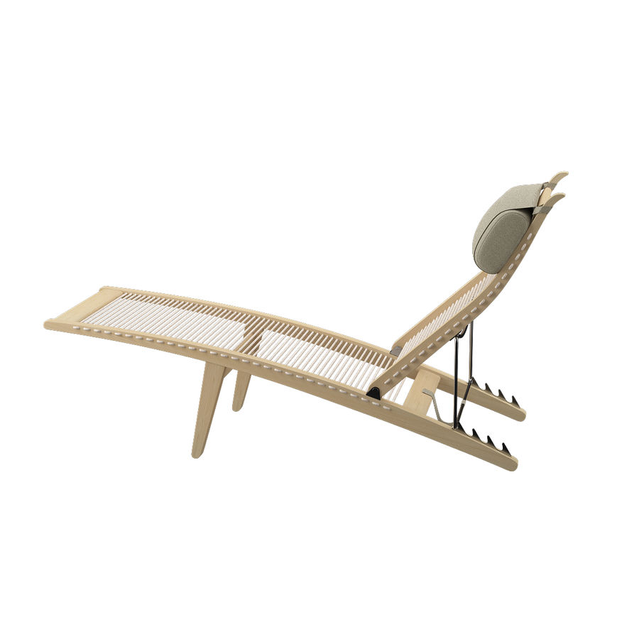 Deck Chair PP 524  -  Han J Wegner royalty-free 3d model - Preview no. 7