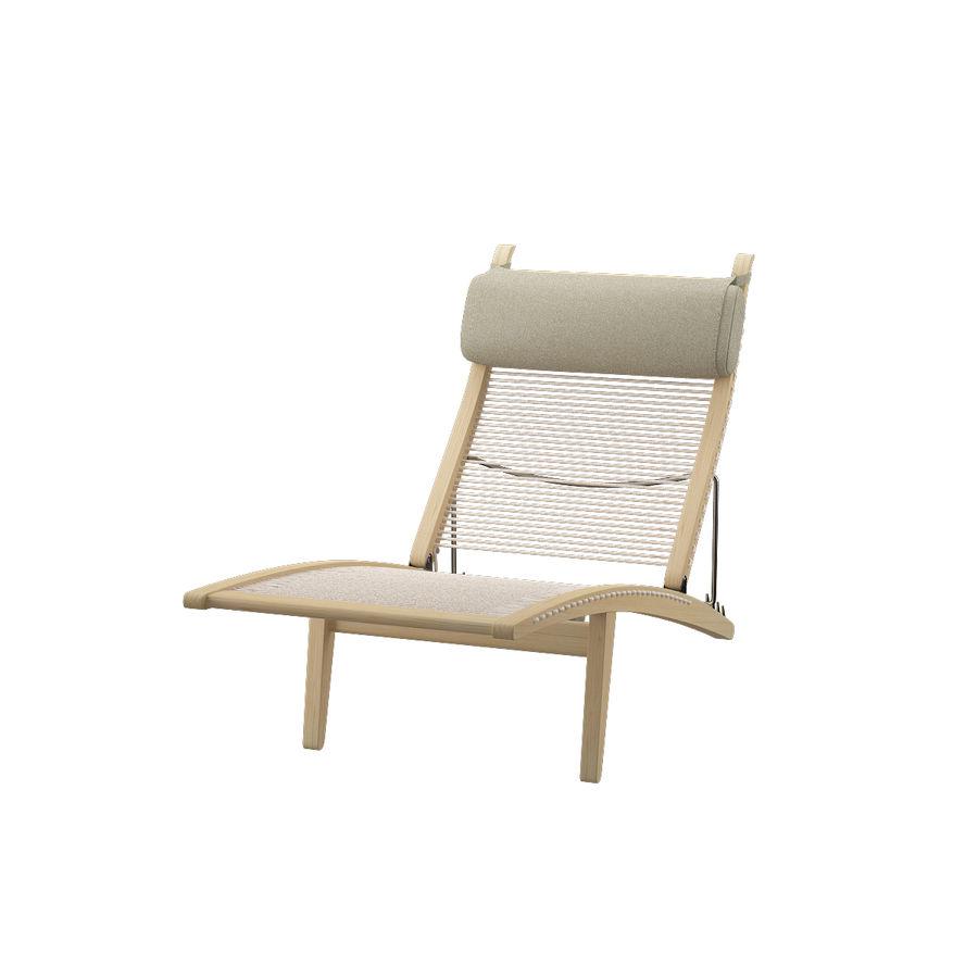 Deck Chair PP 524  -  Han J Wegner royalty-free 3d model - Preview no. 4