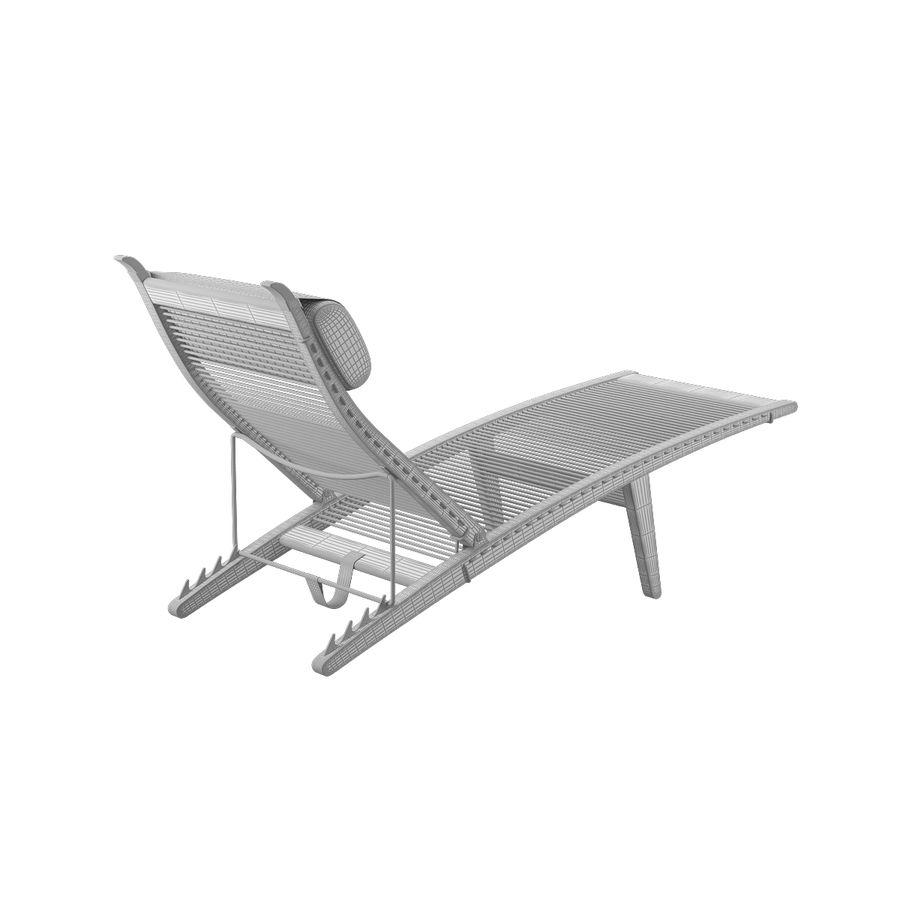 Deck Chair PP 524  -  Han J Wegner royalty-free 3d model - Preview no. 12