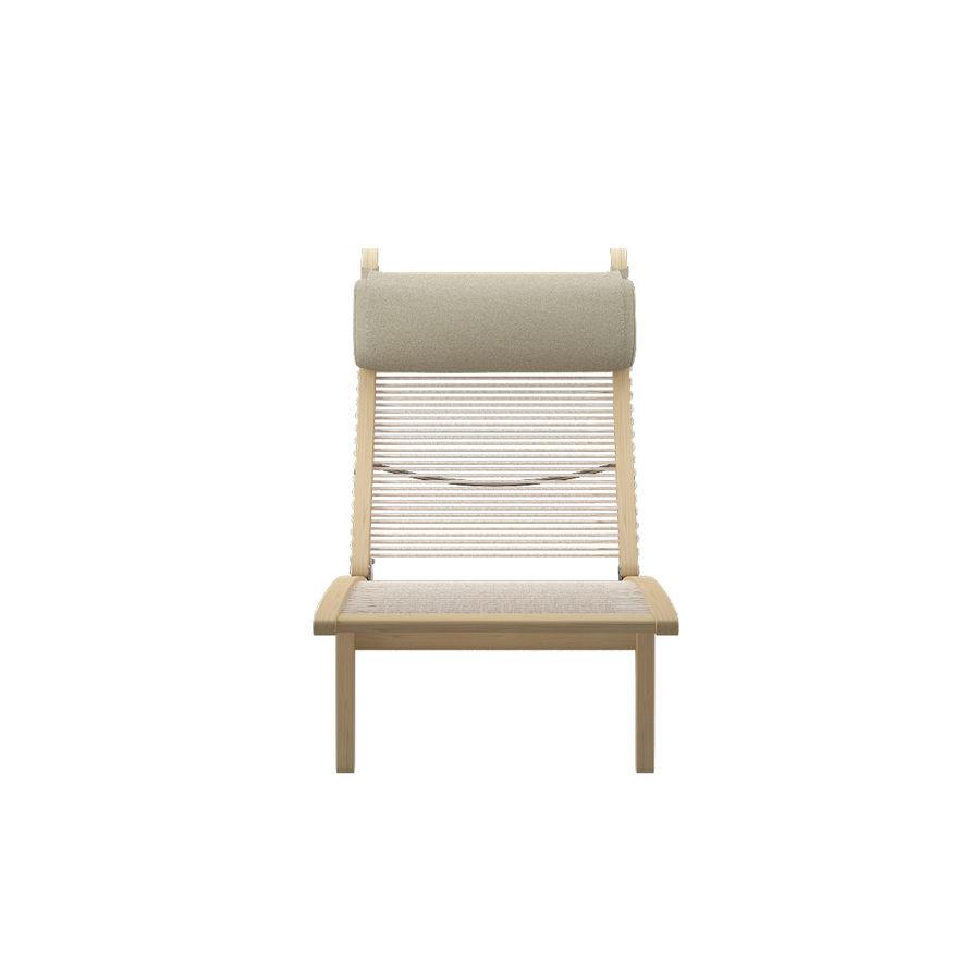 Deck Chair PP 524  -  Han J Wegner royalty-free 3d model - Preview no. 3