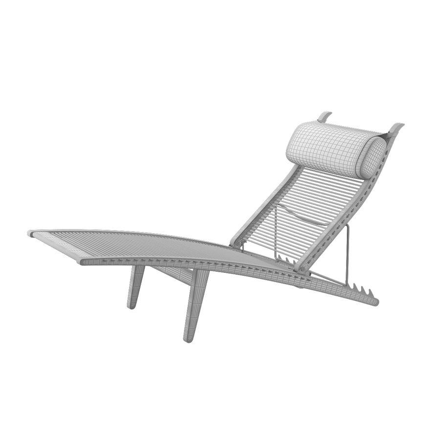 Deck Chair PP 524  -  Han J Wegner royalty-free 3d model - Preview no. 11
