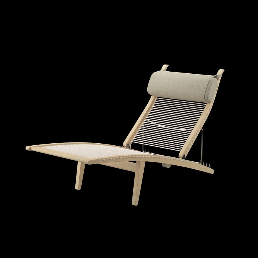 Deck Chair PP 524  -  Han J Wegner royalty-free 3d model - Preview no. 5