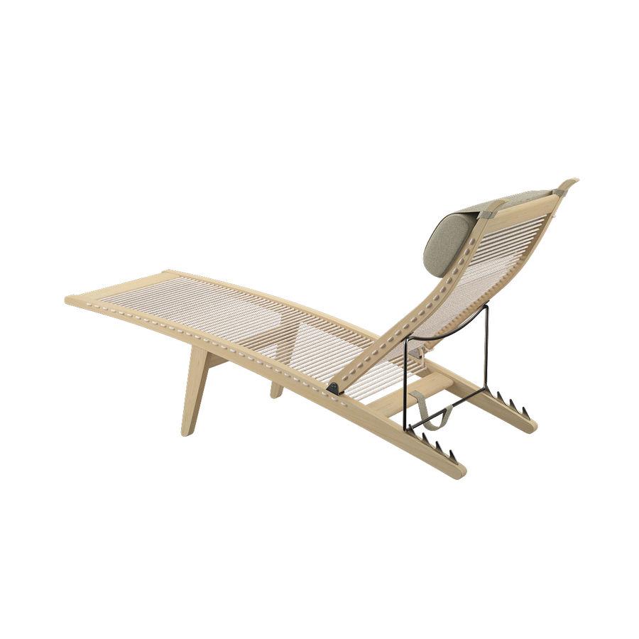 Deck Chair PP 524  -  Han J Wegner royalty-free 3d model - Preview no. 8