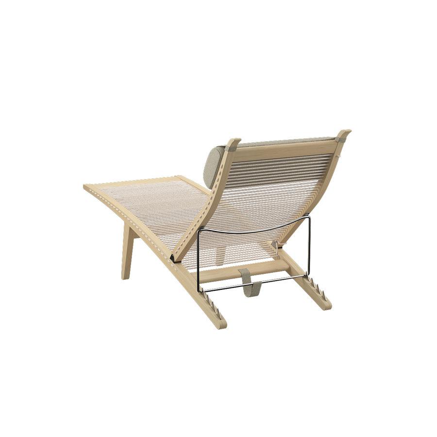 Deck Chair PP 524  -  Han J Wegner royalty-free 3d model - Preview no. 9