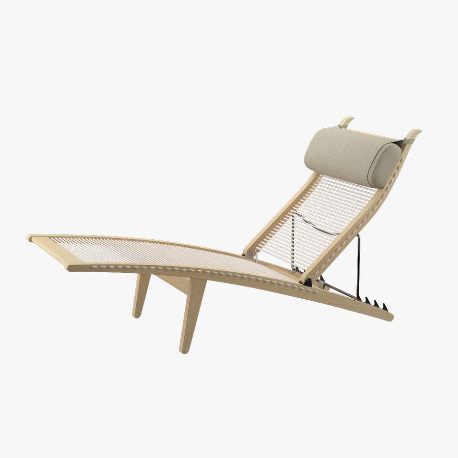 Deck Chair PP 524  -  Han J Wegner royalty-free 3d model - Preview no. 1
