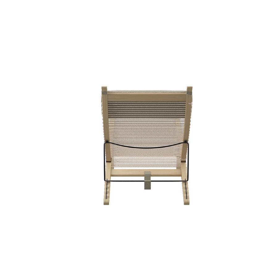 Deck Chair PP 524  -  Han J Wegner royalty-free 3d model - Preview no. 10
