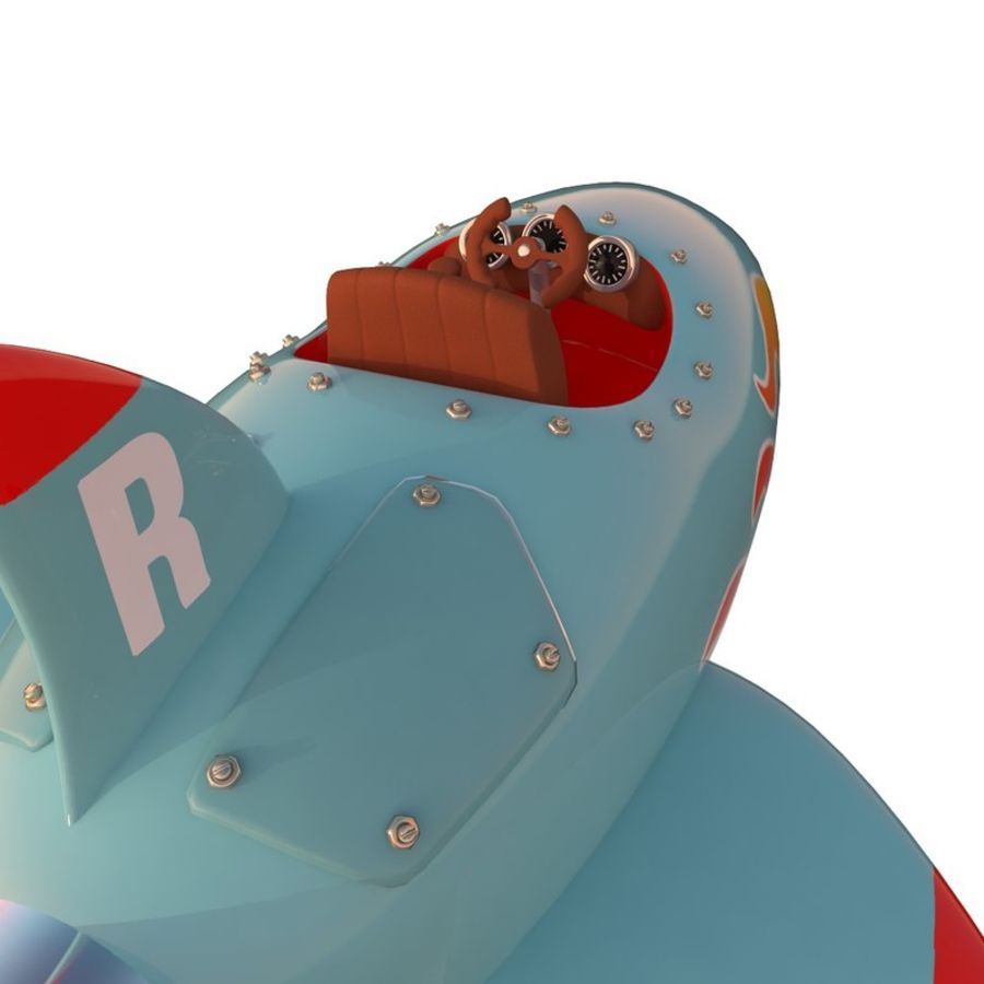 Cartoon Space Rocket ship royalty-free 3d model - Preview no. 61