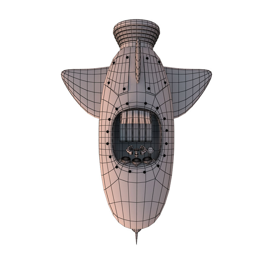 Cartoon Space Rocket ship royalty-free 3d model - Preview no. 70