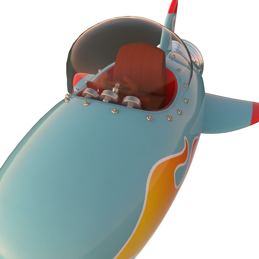 Cartoon Space Rocket ship royalty-free 3d model - Preview no. 49