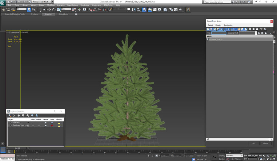 Fir Tree royalty-free 3d model - Preview no. 20