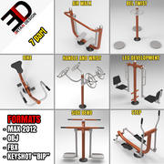 FITNESS-AUSSTATTUNG 3d model