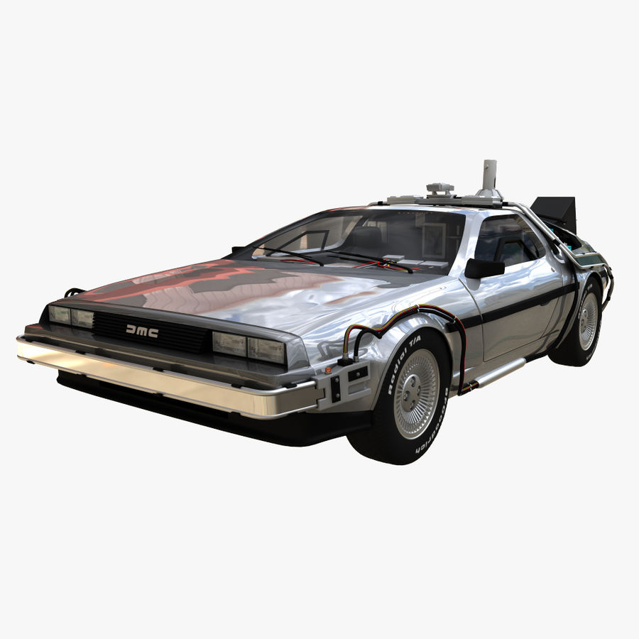 Delorean Time Machine royalty-free 3d model - Preview no. 6