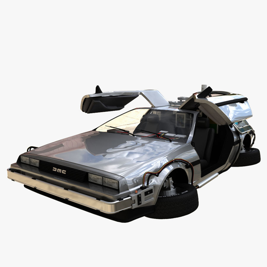 Delorean Time Machine royalty-free 3d model - Preview no. 1