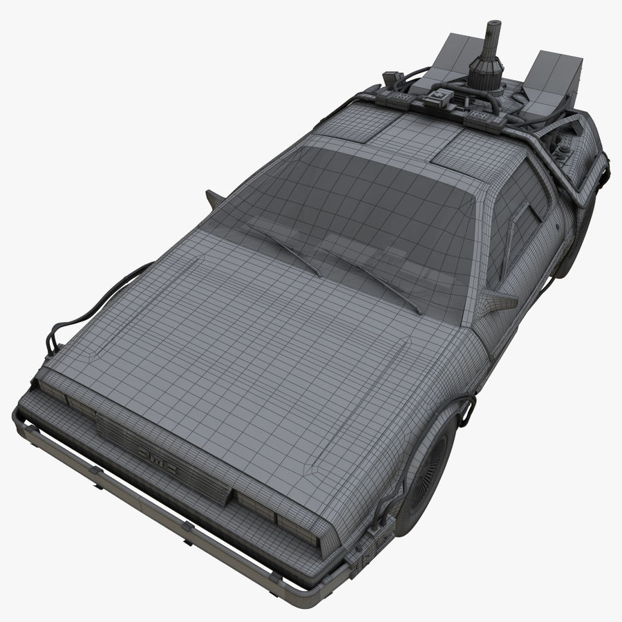 Delorean Time Machine royalty-free 3d model - Preview no. 13