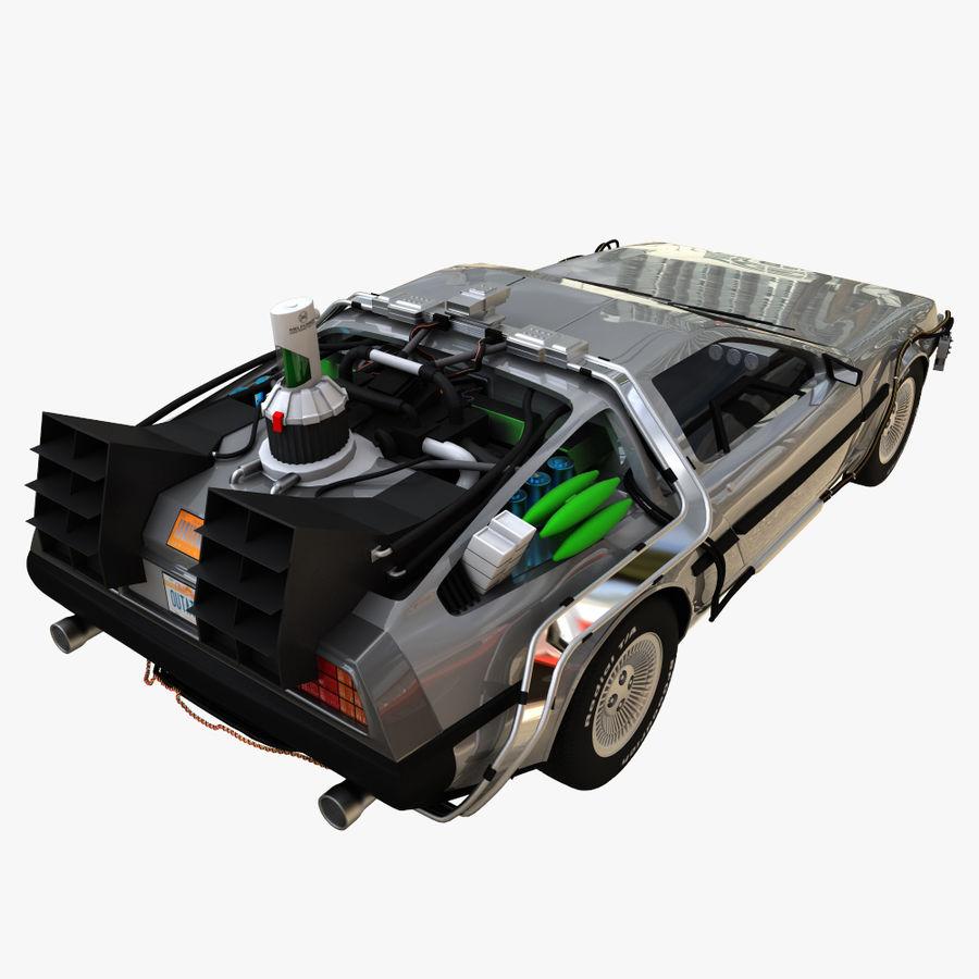 Delorean Time Machine royalty-free 3d model - Preview no. 7