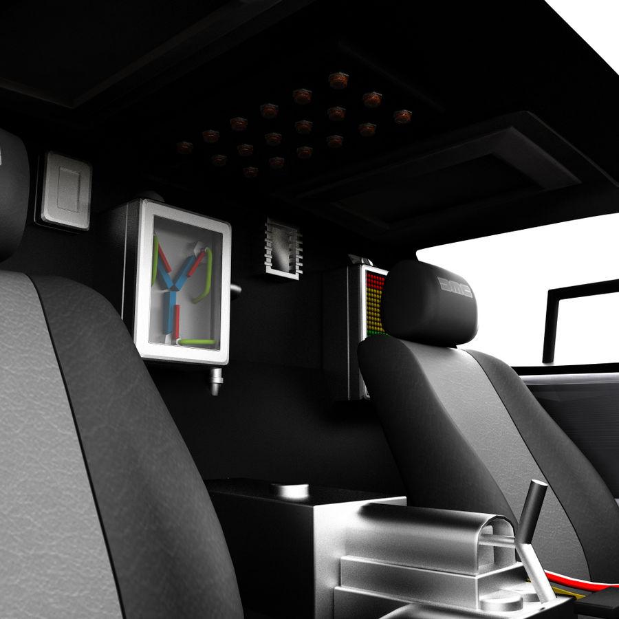 Delorean Time Machine royalty-free 3d model - Preview no. 9