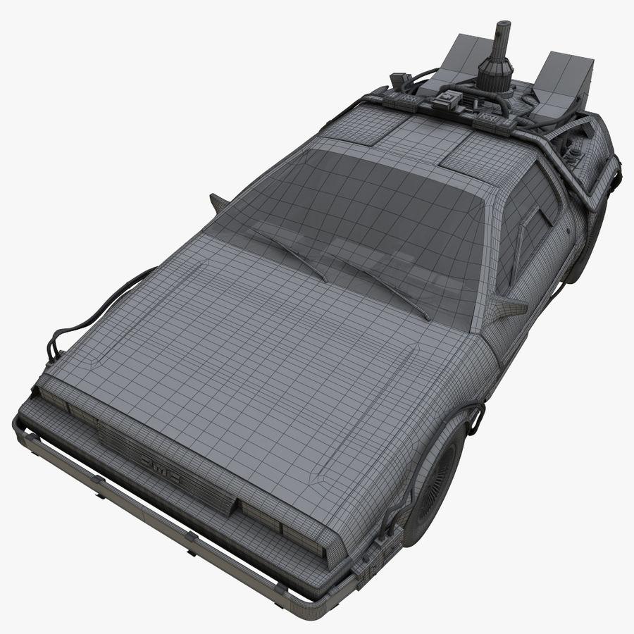Delorean Time Machine royalty-free 3d model - Preview no. 13