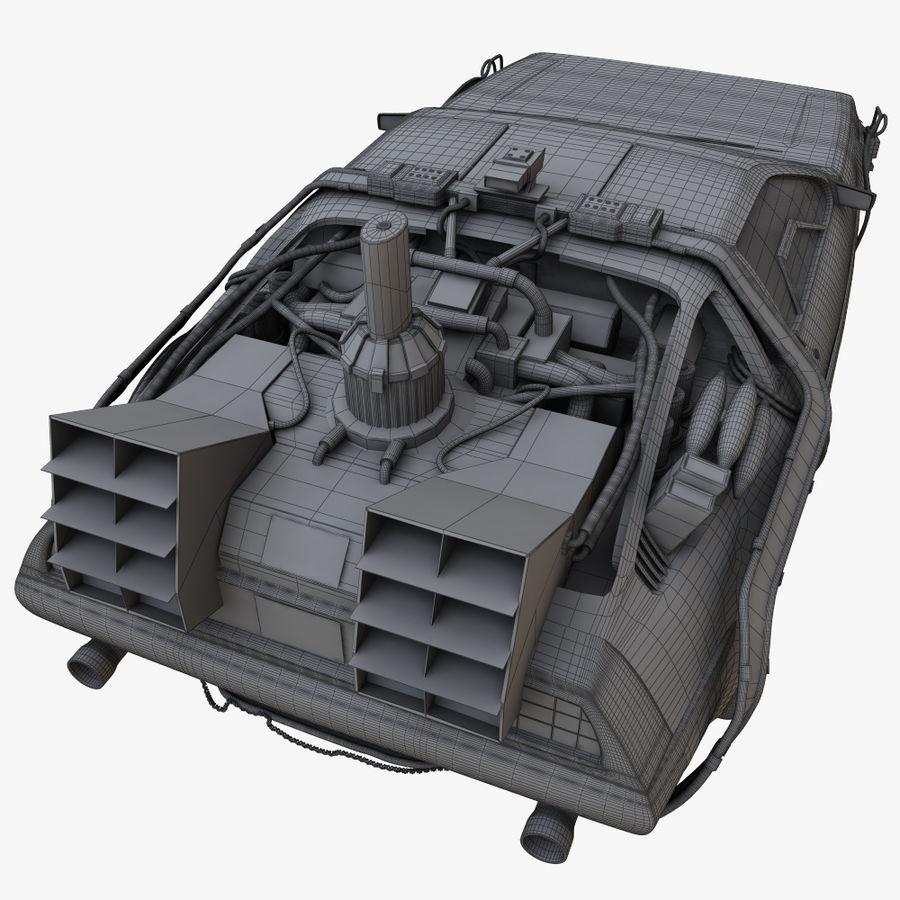 デロリアンタイムマシン royalty-free 3d model - Preview no. 12