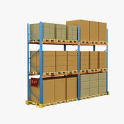 Pallet Rack 3d model