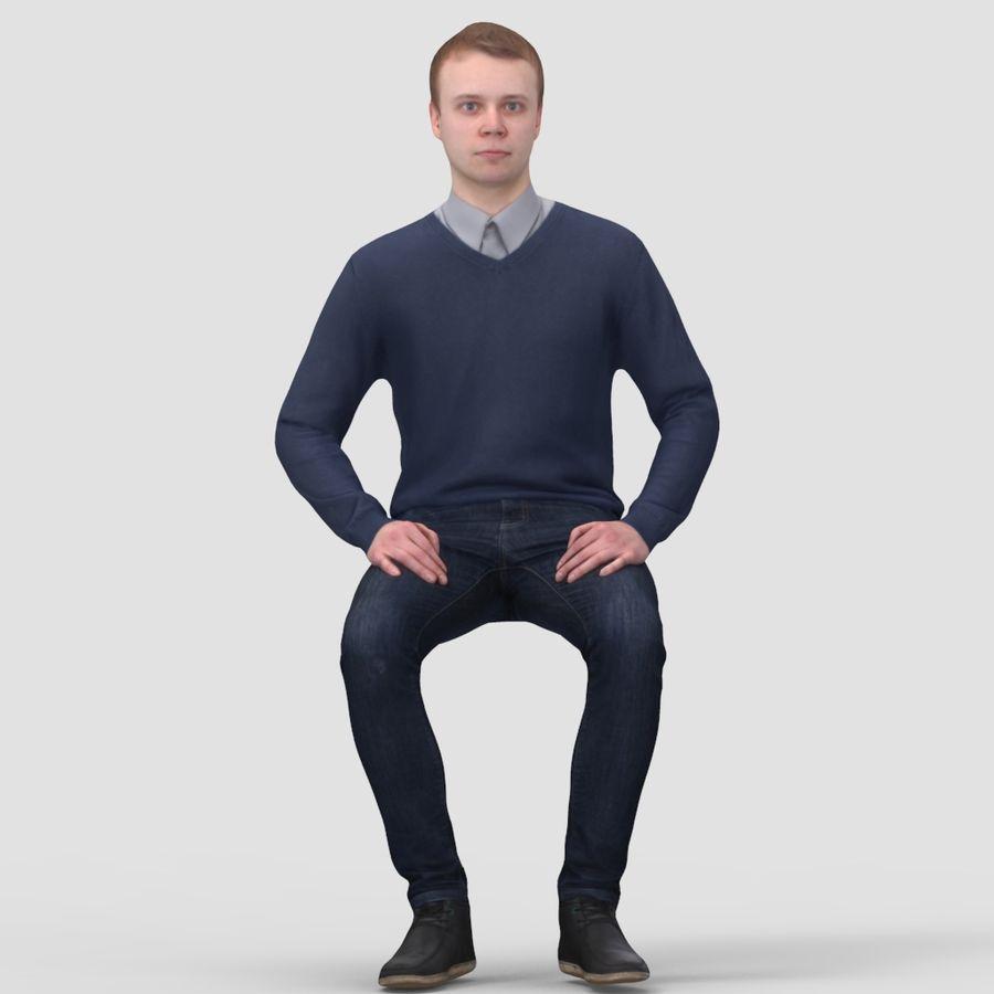 Anthony Sitting 2 - 3D Human Model 3D Model $39 -  max  obj  fbx