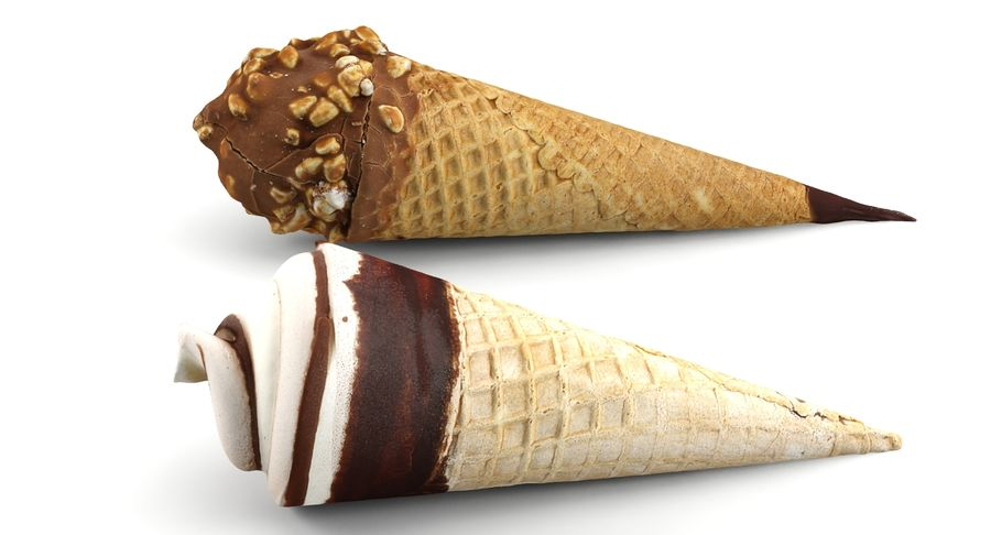 Ice Cream Cones royalty-free 3d model - Preview no. 2