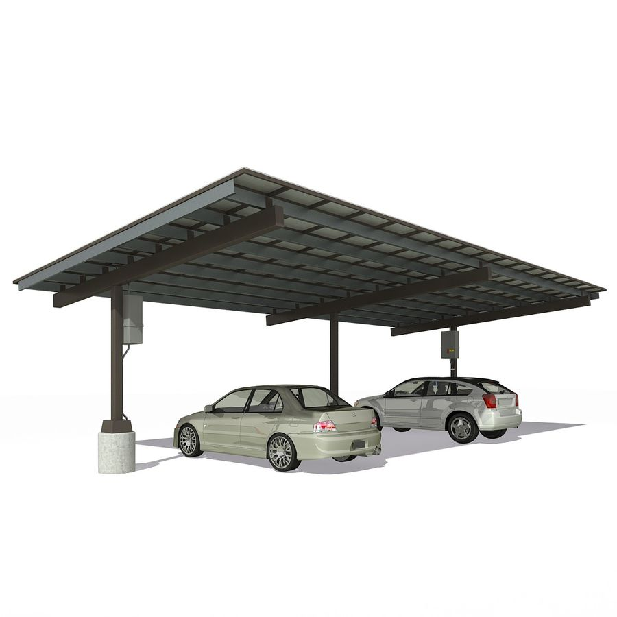 Parking shade 3D Model $30 -  max - Free3D