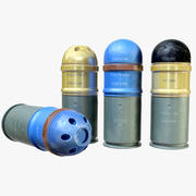 Munitions de lance-grenades 3d model