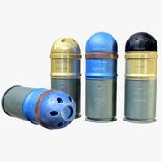 手榴弾ランチャー弾薬 3d model