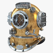 US Navy Diving Helmet 02 3d model