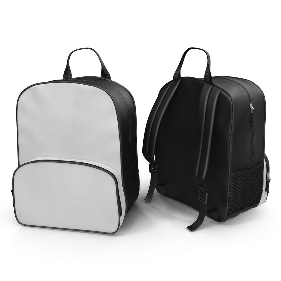 Backpack 9 royalty-free 3d model - Preview no. 3