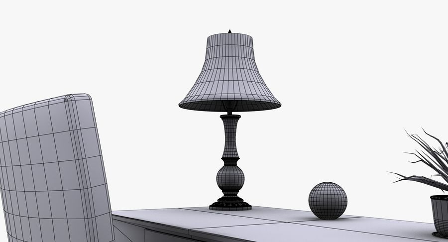 Desk Set royalty-free 3d model - Preview no. 19