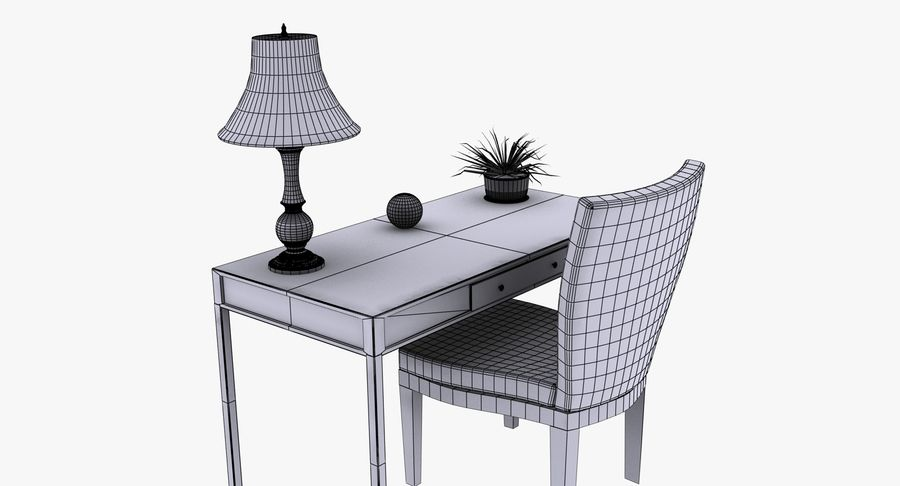 Desk Set royalty-free 3d model - Preview no. 13