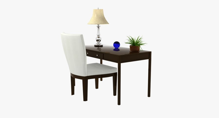 Desk Set royalty-free 3d model - Preview no. 2