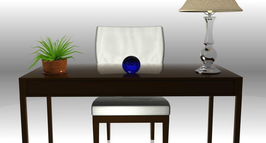 Desk Set royalty-free 3d model - Preview no. 6