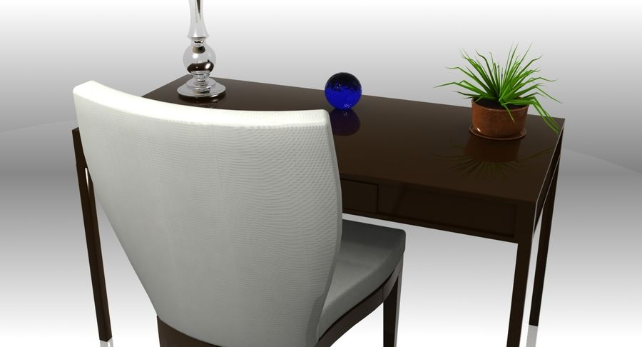 Desk Set royalty-free 3d model - Preview no. 8