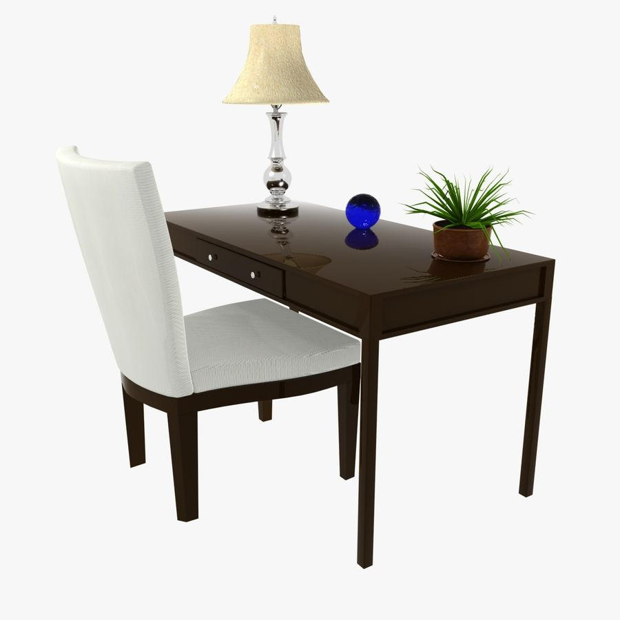 Desk Set royalty-free 3d model - Preview no. 1