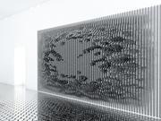미래 지향적 인 벽면 패널 3d model